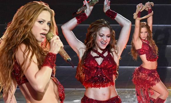 Shakira brings back iconic belly dancing moves for redhot Super ...