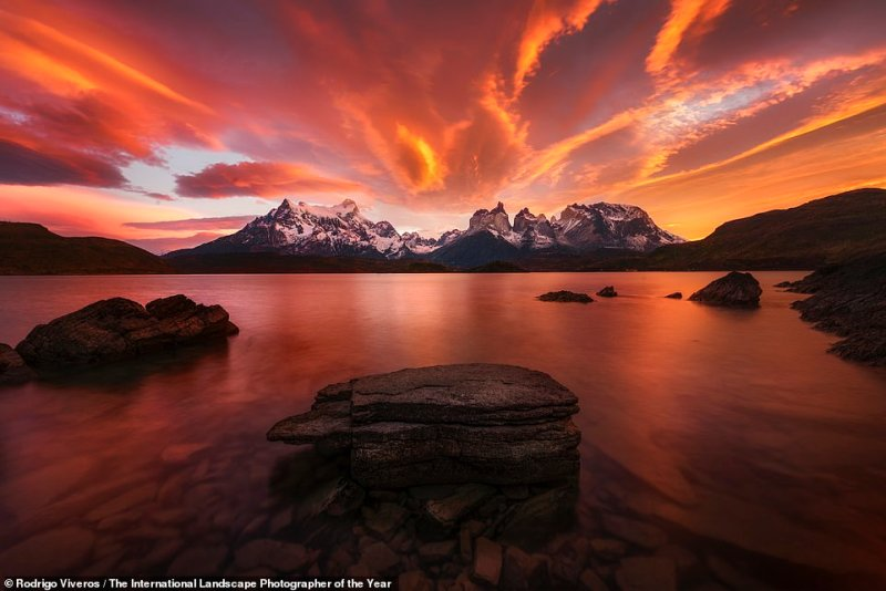 Chilean photographer Rodrigo Viveros snapped this image inTorres del Paine National Park in Patagonia on the southern tip of Chile