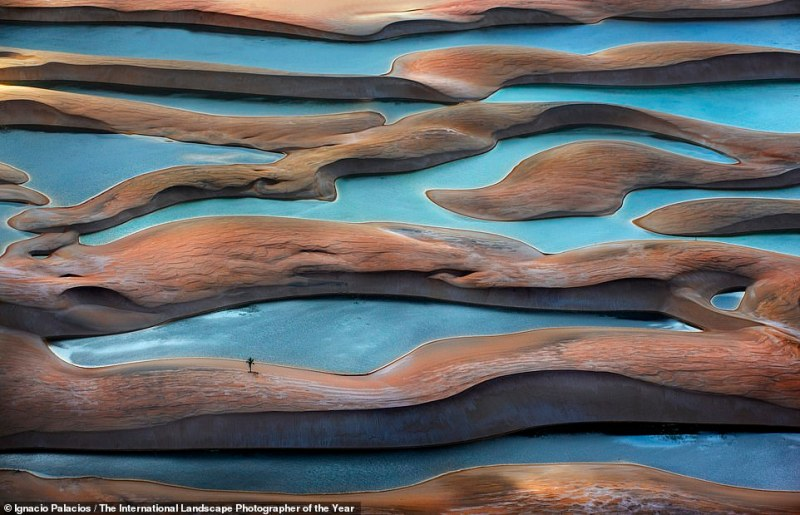 Australian snapper Ignacio Palacios submitted this wavy shot ofLençóis Maranhenses National Park, a protected area of Brazil's Atlantic coast. This image helped him scoop the Abstract Aerial Award