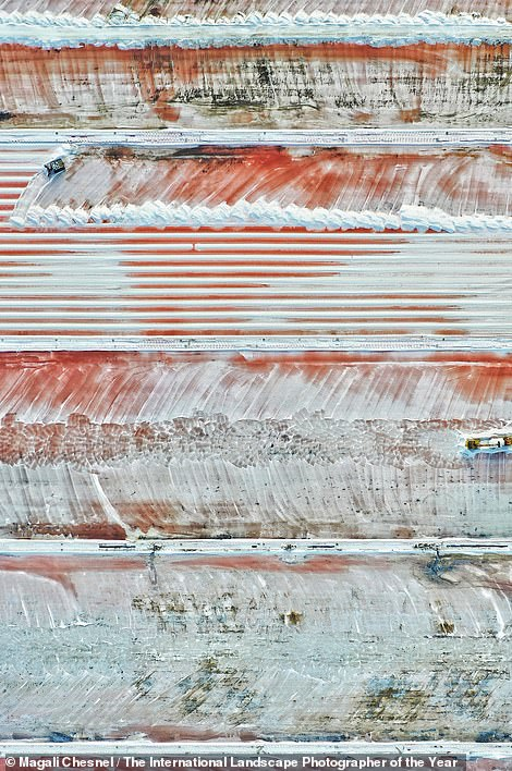 Entitled 'The Harvest of Road Salt', this image ofthe Salin de I'île Saint Martin in Gruissan, France, bagged French photographer Magali Chesnel the prize for Landscape Photograph of the Year