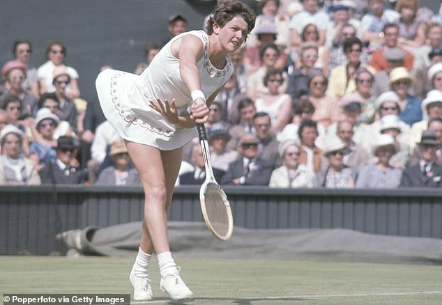 Margaret Court (pictured in the 1960s) remains one of the greatest tennis players of all time after winning a record 24 Grand Slam singles titles