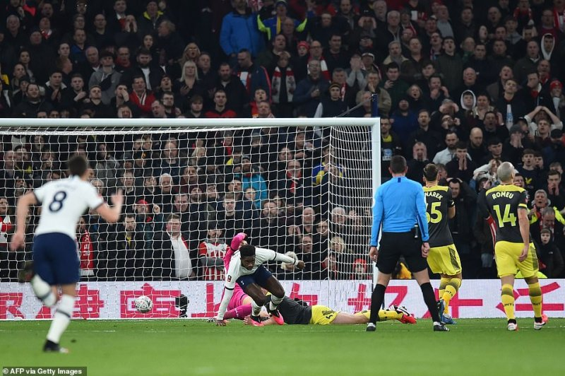 Southampton goalkeeper Gunn couldn't go much about it as the ball hit Stephens and into the visiting goal