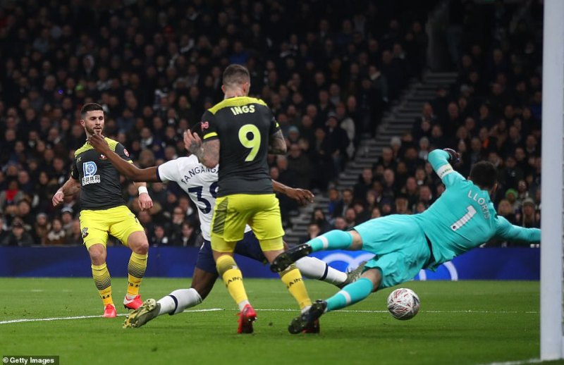 Long struck from close range to beat Lloris and get Southampton back into the game after they had initially gone behind