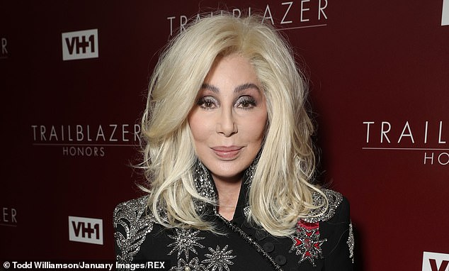 Cher (pictured) called President Trump an 'imitation of a man' as she criticized his acquittal