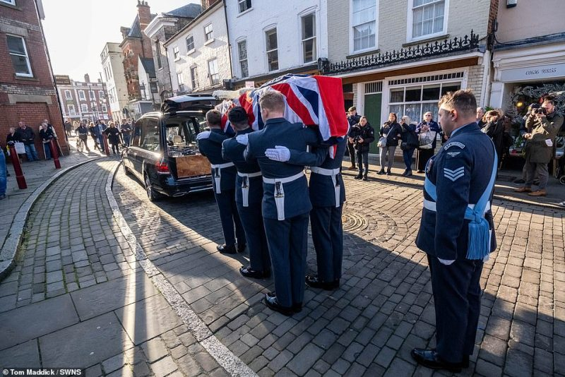 RAF top brass this week launched an appeal for mourners to attend his funeral after fears he would not get the a send-off