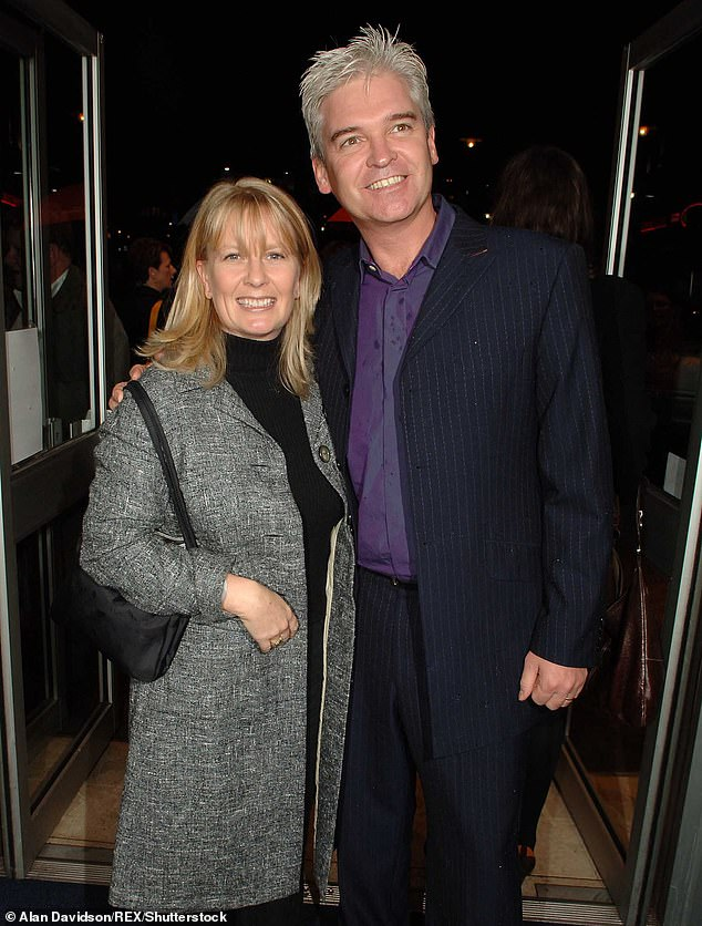 Marriage: After nearly 27 years of marriage to his wife Steph, he has now announced that he has suffered 'inner conflict' and is now ready to 'celebrate and be proud' of his sexuality (pictured in 2005)
