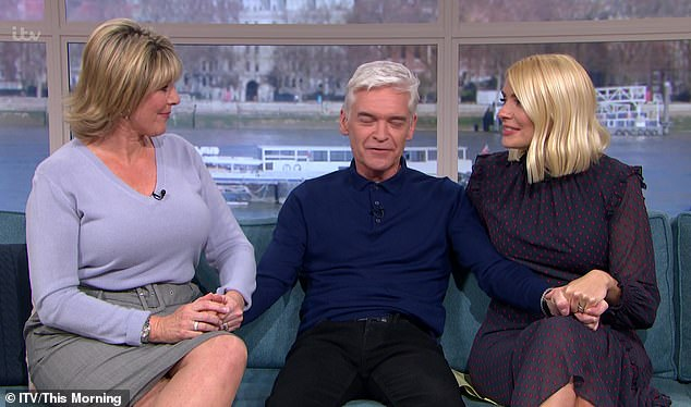 We've got you: Ruth Langsford was also on hand to support Phillip as he refleced on his decision to come out