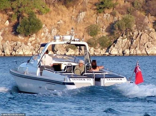 Bill and Melinda Gates are spotted on vacation in Marmaris, Turkey travelling on a speedboat in October 2005