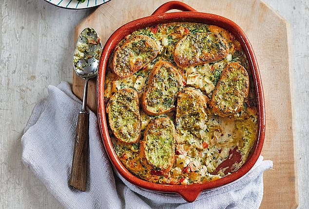 This wholesome and warming dish filled with creamy cheese and flavoured with pesto is perfect for the stormy winter months