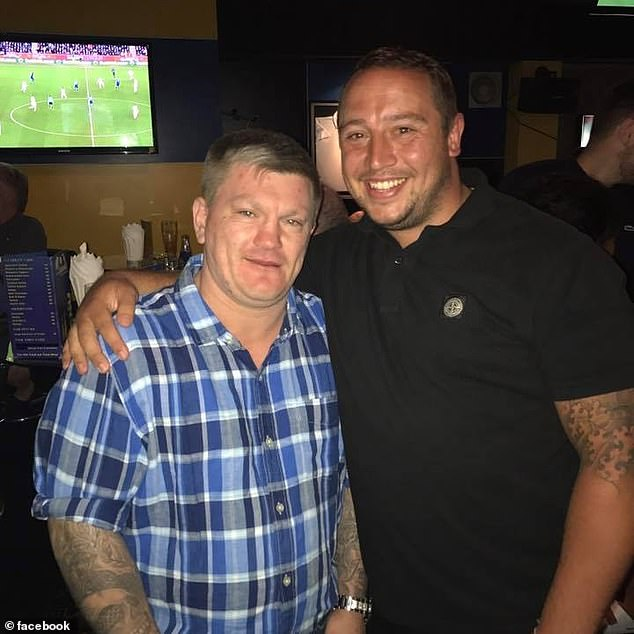 Mark Rumble (right), 31, from Oxfordshire, is pictured with boxing legend Ricky Hatton in Thailand
