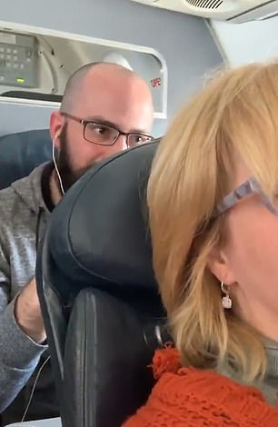 The clip was filmed on a flight from New Orleans to Charlotte