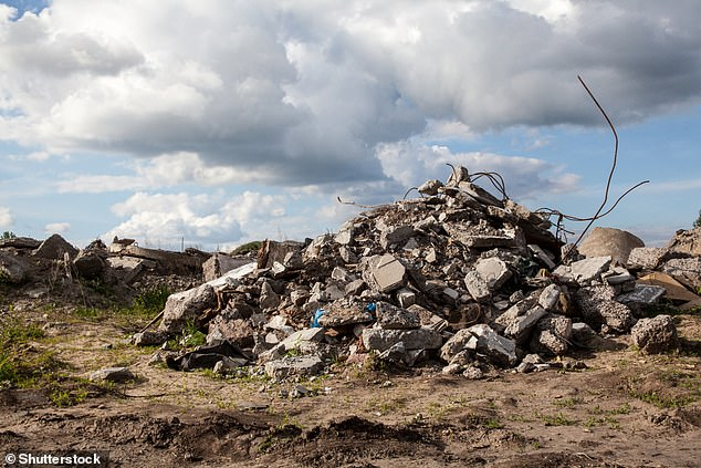 There are more than 1.3 billion tons of construction debris produced every year, much of which can be dangerous to dispose of because of its size and weight.