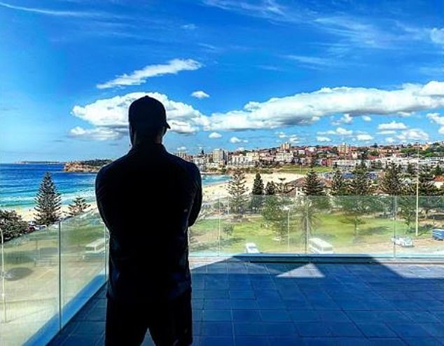 'Love this place':The former Australian cricket captain, 38, hinted at their break-up last week when he shared this photo to Instagram of himself standing alone on the balcony