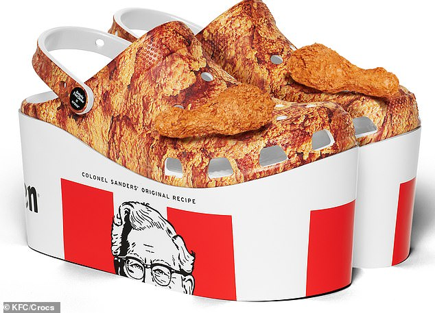 Feast your eyes on this! KFC announced today that it has teamed up with the Crocs on a new collaboration that's set to go on sale this spring
