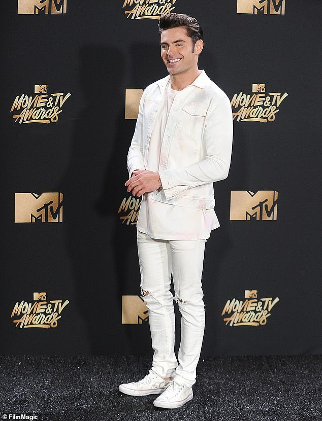The High School Musical Star came in fourth place, thanks to his slim but muscular build (pictured in 2019)