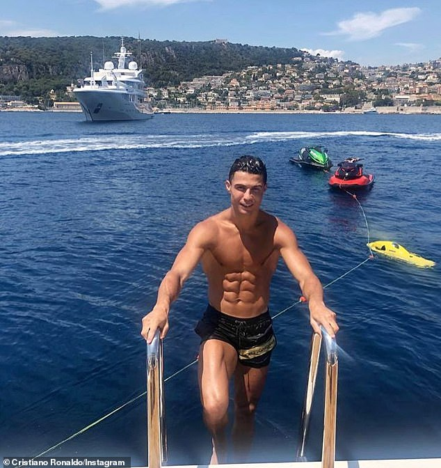 First male place was taken out by Byron Bay-based Chris Hemsworth, while Portuguese footballer Cristiano Ronaldo was also included (pictured)