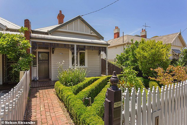 Melbourne real estate values were expected to climb by 8 per cent this year, which would take the median from $901,951 to $970,000 come Christmas. Pictured is a house at Moonee Ponds selling for $900,000
