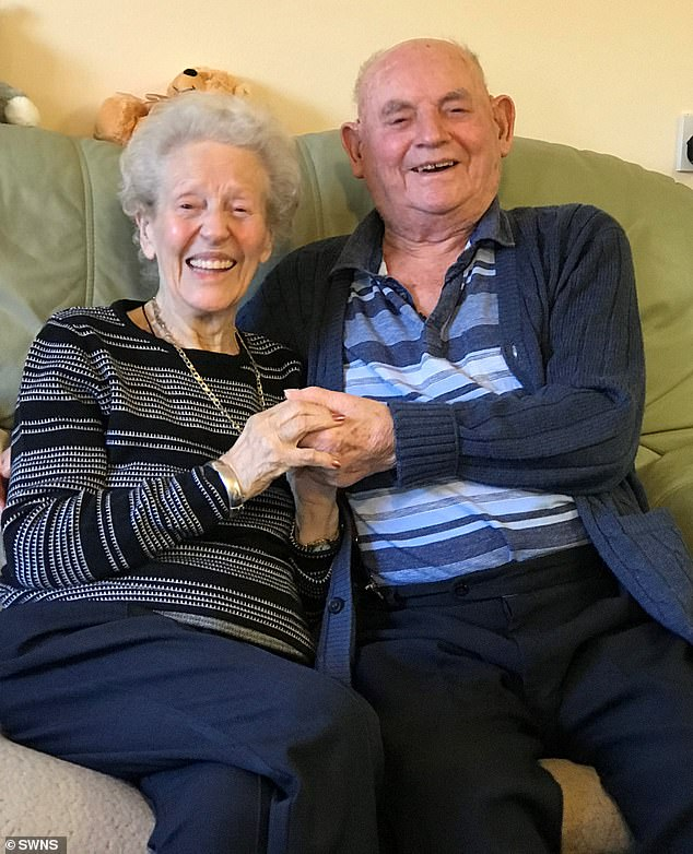 The couple (pictured now) are now living in the same care home and plan to spend Valentine's Day attending a quiz with other residents