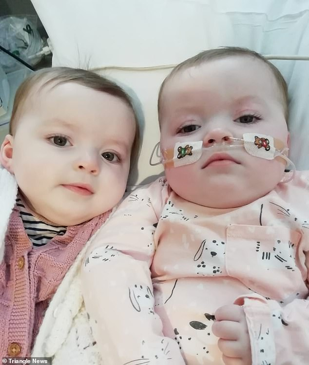 Amelia (left) and Ruby (right). The pair may not make it into adulthood after they displayed the worrying characteristics of Rett syndrome, being diagnosed soon after