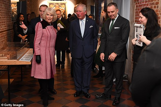 Charles and Camilla met senior civil servants and their staff inside the Cabinet Office and praised their efforts over the past few years