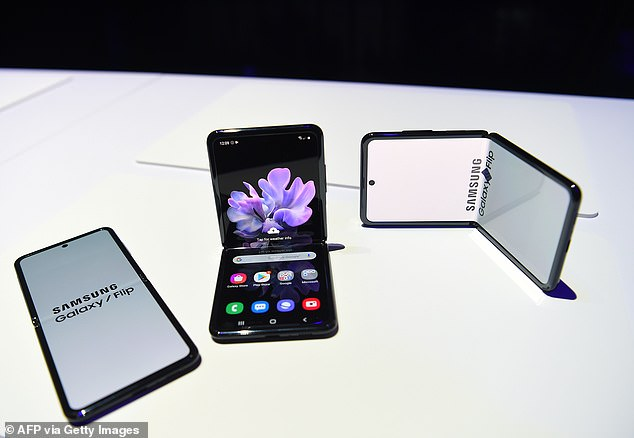 In addition to the Netflix deal, Samsung also unveiled its highly-anticipated foldable phone – the Galaxy Z Flip (pictured)