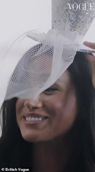 The Duchess of Sussex, 38, handed the fashion designer a sparkly party hat and horns as a thank you for agreeing to let her be the first ever guest editor of the magazine