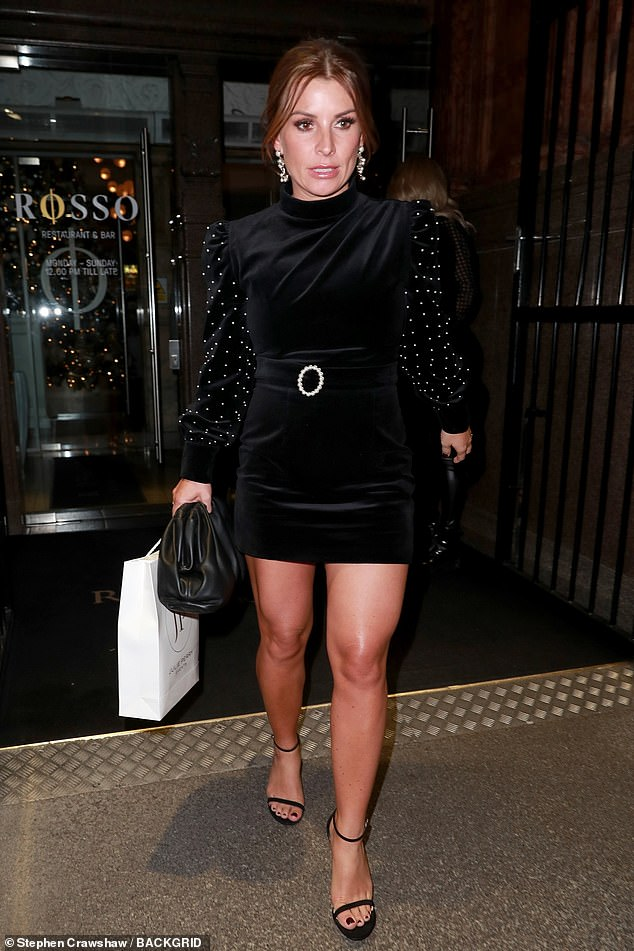 Hitting back:Coleen Rooney has responded to Rebekah Vardy's emotional Loose Women appearance amid their so-called feud in a curt statement