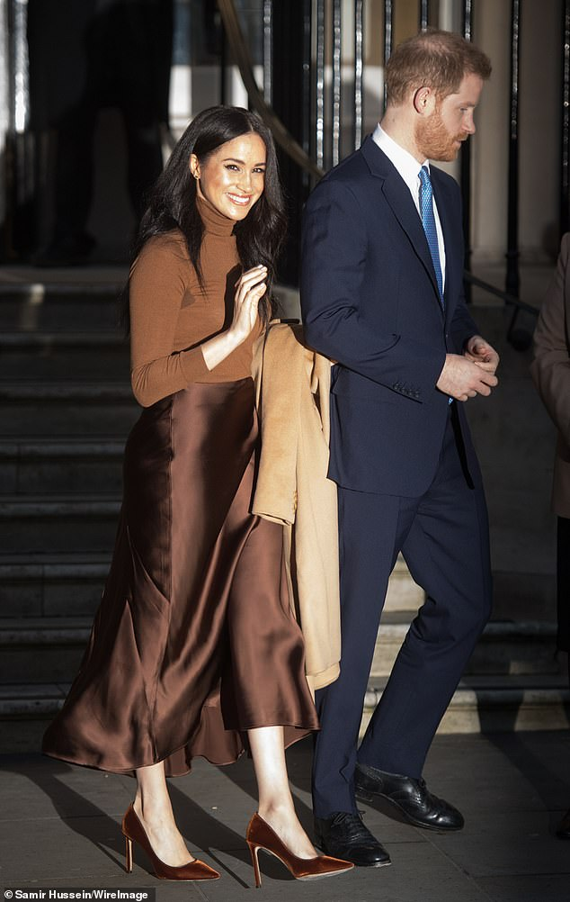 Prince Harry, Duke of Sussex and Meghan, Duchess of Sussex leave Canada House on January 07, 2020 in London, England