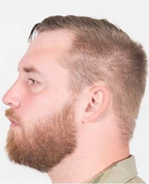 An example of properly trimmed beard with the Air Force uniform is seen in an example published with the service branch's new guidelines