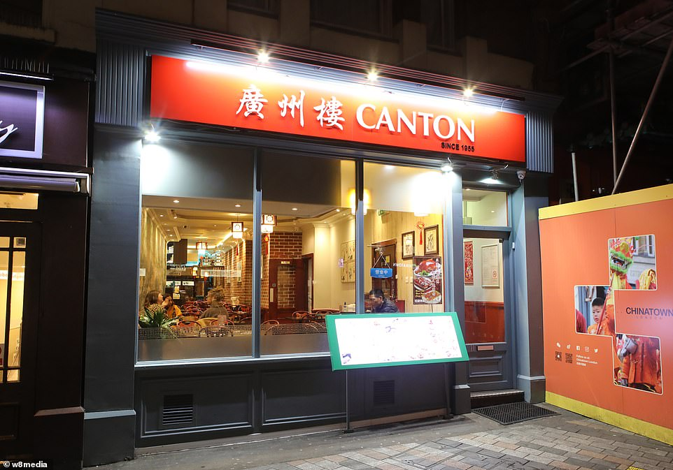The ninth confirmed case in Britain is thought to have flown into the UK from China, with officials confirming she caught the virus in China. Pictured: A nearly deserted restaurant in China Town.There is no suggestion that restaurant staff are infected by the virus