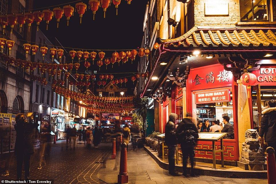 It yesterday emerged that more than 750 British patients were tested for the disease, that originated in Wuhan, China, in one day while 2,512 people have been tested in the country since last month. Pictured: China Town had many more visitors in November last year