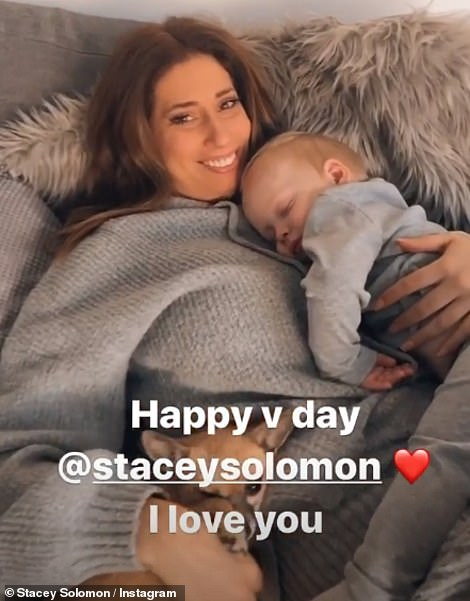 Do it for the kids! Stacey Solomon and Jack Fincham shared posts with their kids to mark the big day, with the Loose Women star posing with her son Rex, eight months