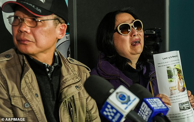 Ms Yu's parents (pictured) issued an emotional plea for information in June 2018