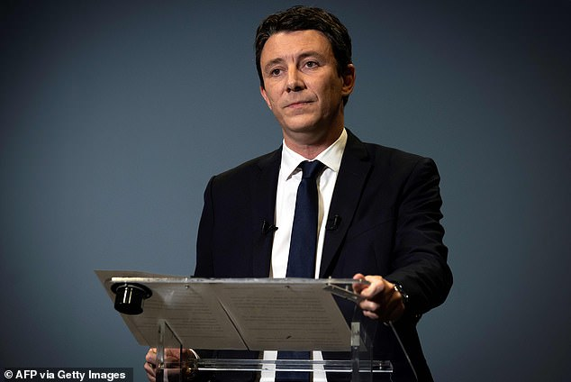 Benjamin Griveaux (pictured today in Paris) has quit the mayoral race in the French capital after an obscene video of him emerged  online
