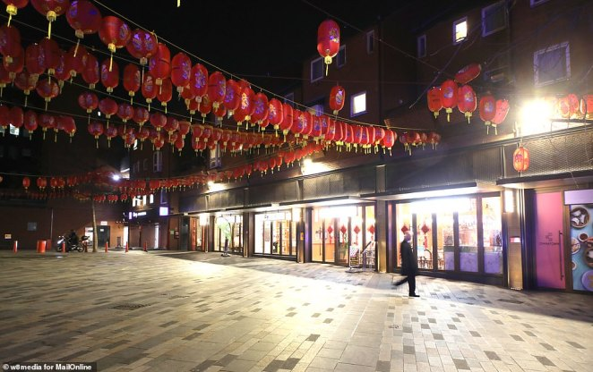The normally-busy restaurants are empty just weeks after Chinese New Year after Britain's ninth confirmed case of the virus, a woman who travelled from China, became the first in the capital