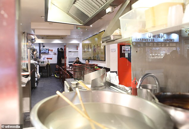 Wales market stall-holder Su Chu Lu had been to Taiwan – an island off the coast of China – to visit her family, but when she came back neighbours had turned on her. Pictured: A nearly deserted Chinatown restaurant.There is no suggestion that restaurant staff are infected by the virus