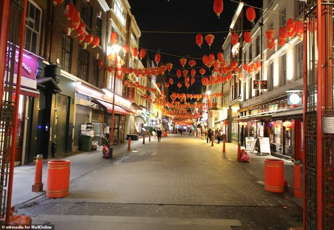 Britain's ninth case was diagnosed on Wednesday. The victim, a woman, is currently being treated for the illness at Guy's and St Thomas' hospital in south London. Pictured: The streets were almost deserted