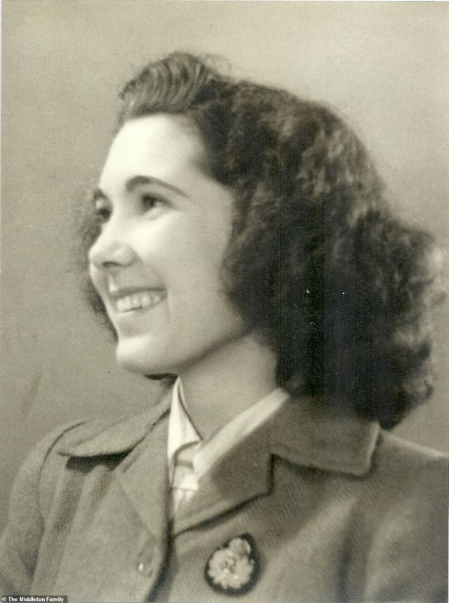 Kate praised her 'amazing granny' ValerieGlassborow (pictured), who worked as a Codebreaker at Bletchley Park during World War II