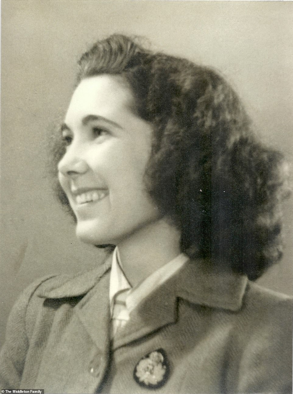 Kate praised her 'amazing granny' Valerie Glassborow (pictured), who worked as a Codebreaker at Bletchley Park during World War II