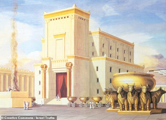 Solomon's Temple, pictured — which is also known as the First Temple — stood from the 10th Century BC until its destruction by Nebuchadnezzar II in 586 BC. According to the Bible, the Jewish people were prohibited from worshipping elsewhere