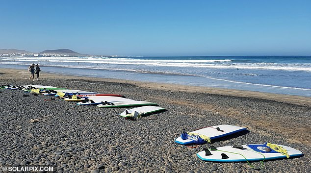 Famara Beach is regarded as the most spectacular beach in the municipality of Teguise