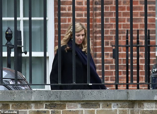 Miss Symonds is believed to have heard about Sajid Javid's shock resignation on her way home to London from a mini-break with friends yesterday