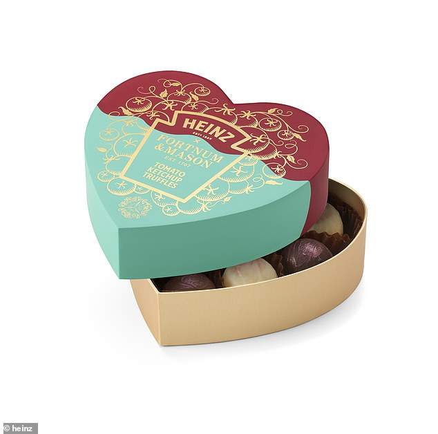 Presented in a sweetheart box and made entirely by hand, Heinz has combined more than 150 years of experience with the expertise of Fortnum's chocolatiers to create nine delectable chocolates for you and your loved one to share