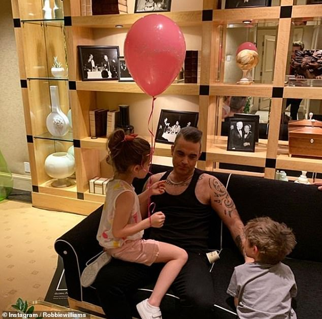 Sweet: When Ayda and Robbie announced Coco's arrival in 2018, the couple spoke about their 'long and difficult' path to having a third child