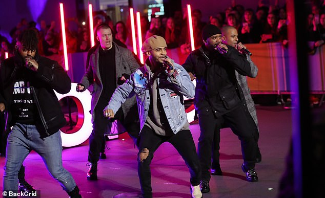 Amazing: JLS took to the stage on Friday's The One Show to perform together for the first time in seven years, after the band announced they are set to reunite for a tour later this year