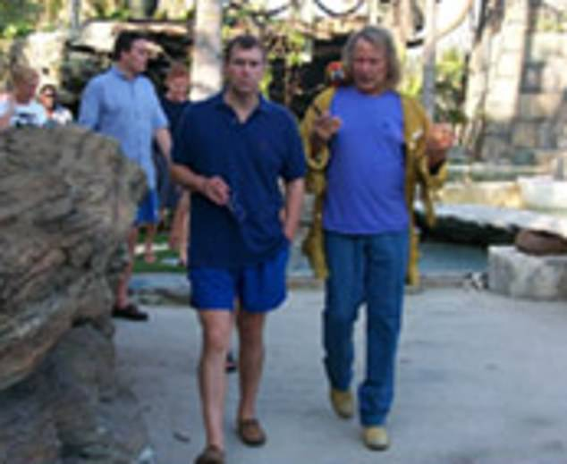 Prince Andrew visited tycoon Peter Nygard (pictured together) at his lavish estate in theBahamas in 2000