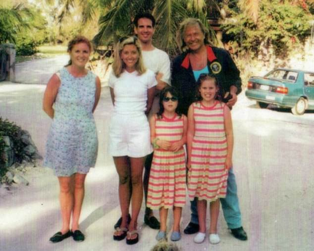 The prince and his ex-wife Sarah Ferguson stayed at Nygard Cay, near Nassau, with daughters Beatrice and Eugenie (pictured with Nygard)