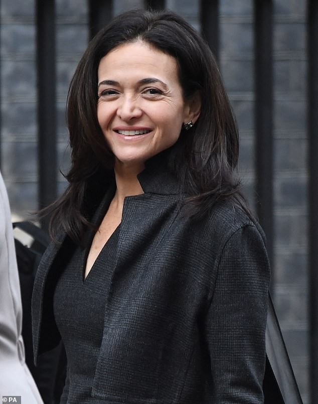 Taking charge: Sheryl Sandberg, 50, took to social media on Friday to post an empowering Valentine's Day message about women being more proactive in their romantic relationships