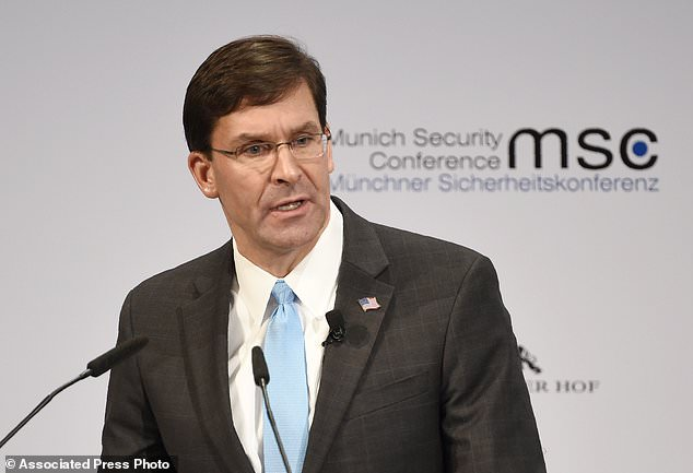 U.S. Defense Secretary Mark Esper on Saturday cast China as a rising threat to world order - saying the world's most populous nation steals Western know-how during a speech at an international security conference in Munich
