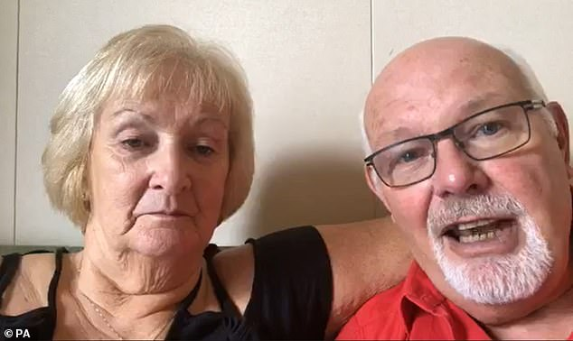 Trapped Britons David and Sally Abel appealed to billionaire Richard Branson for help